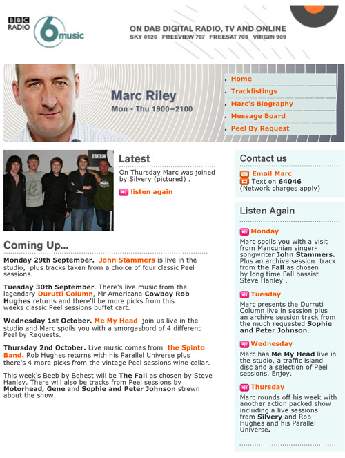 BBC 6 Music In Session Marc Riley