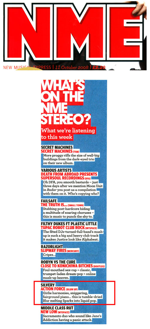 What's On The NME Stereo Silvery Action Force