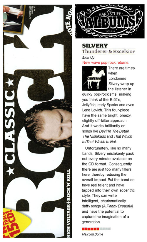 Classic Rock Silvery Album Review Thunderer & Excelsior
