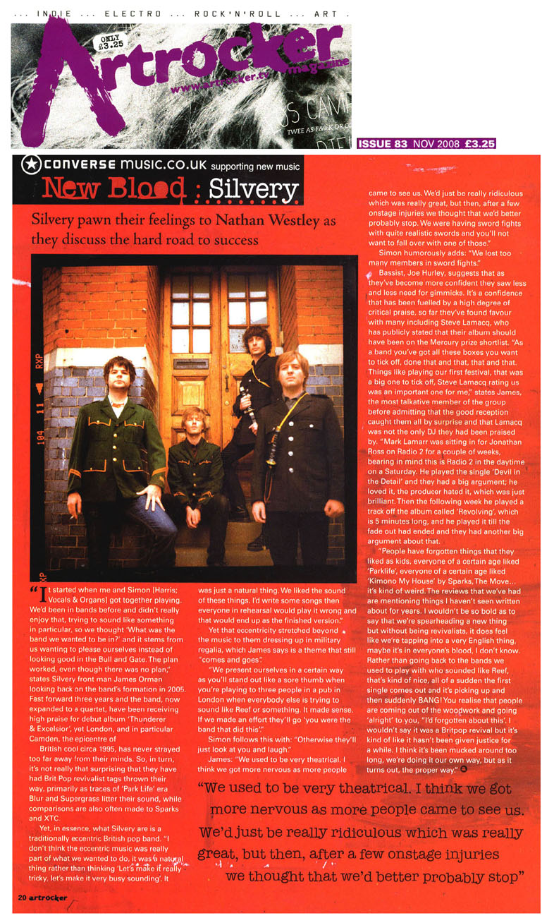Artrocker New Blood: Silvery