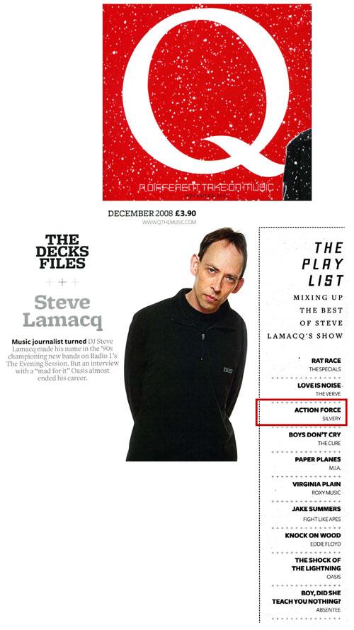 Q Magazine Best Of Steve Lamacq's Show Action Force Silvery