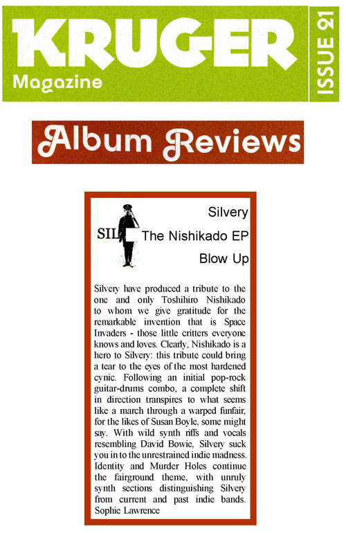 Kruger Album Review Silvery Nishikado EP