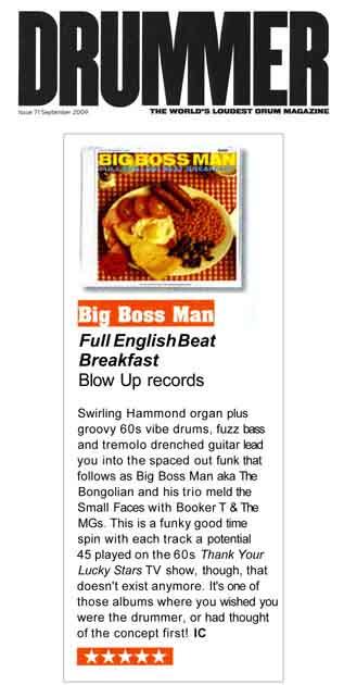 Drummer Magazine Full English Beat Breakfast