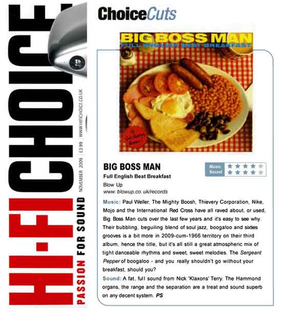 Hi-Fi Choice Big Boss Man Full English Beat Breakfast