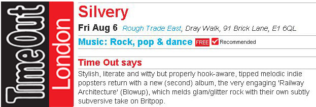 Time Out Recommended Rough Trade East Instore