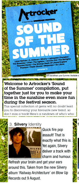 Artrocker Sound Of The Summer Covermount Silvery