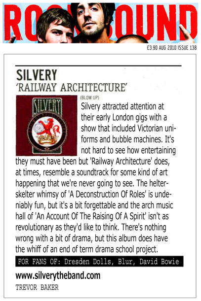 ROCKSOUND Railway Architecture Album Review Silvery