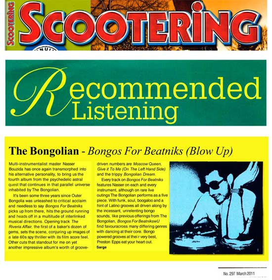 Scootering Recommended Listening The Bongolian - Bongos For Beatniks (Blow Up)
