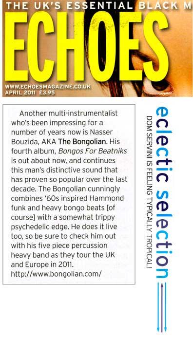 Echoes Bongos For Beatniks The Bongolian