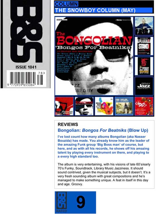 Blues & Soul Snowboy Bongos For Beatniks Review
