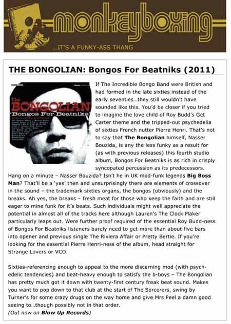 Monkeyboxing The Bongolian Bongos For Beatniks