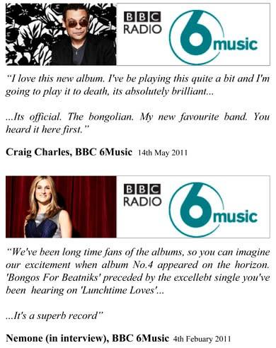 BBC 6 Music Craig Charles Nemone Bongolian Quotes