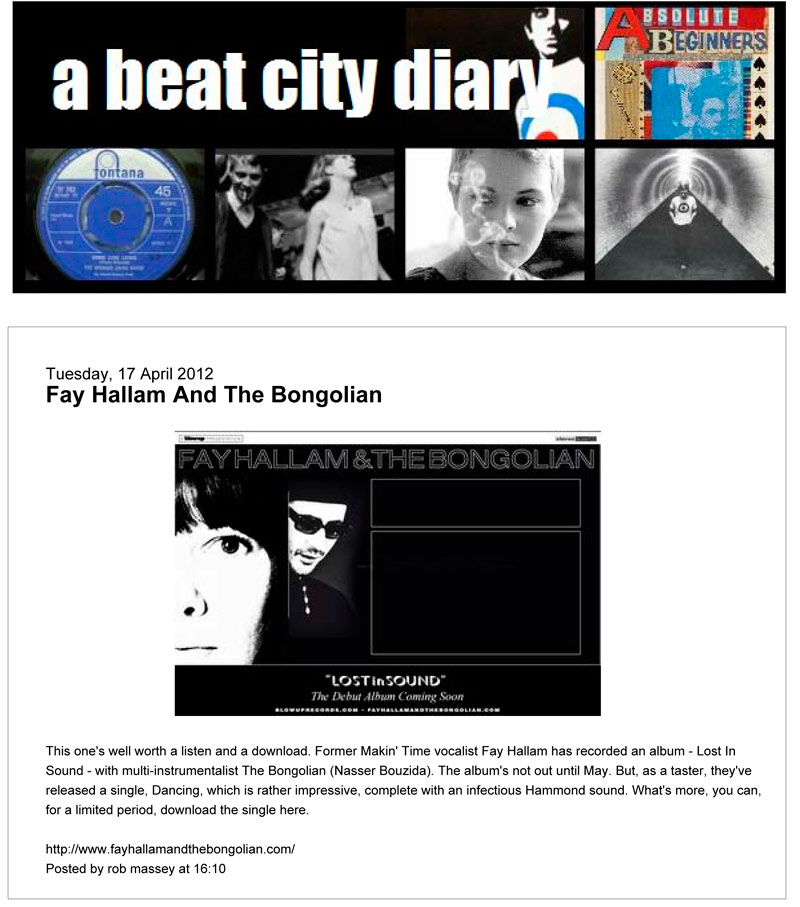 A Beat City Diary Lost In Sound Preview Fay Hallam The Bongolian