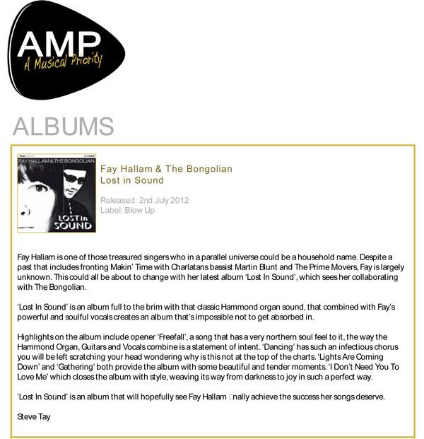 A Musical Priority Album Reviews Fay Hallam The Bongolian