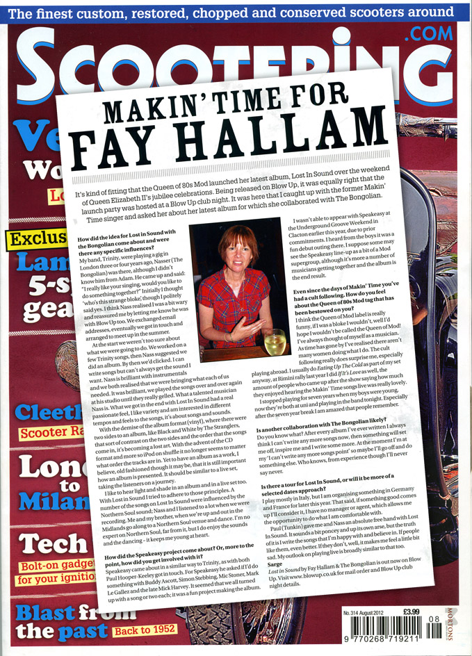 Makin' Time For Fay Hallam Scootering Interview