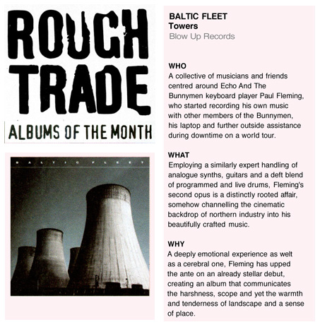 Rough Trade Albums Of The Month Baltic Fleet Towers