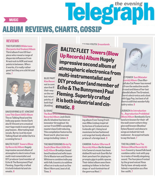 Peterborough Telegraph Baltic Fleet Towers Review