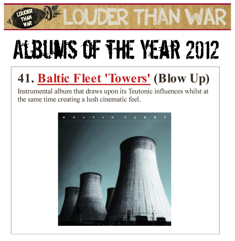 Louder Than War Albums Of The Year 2012 Baltic Fleet Towers