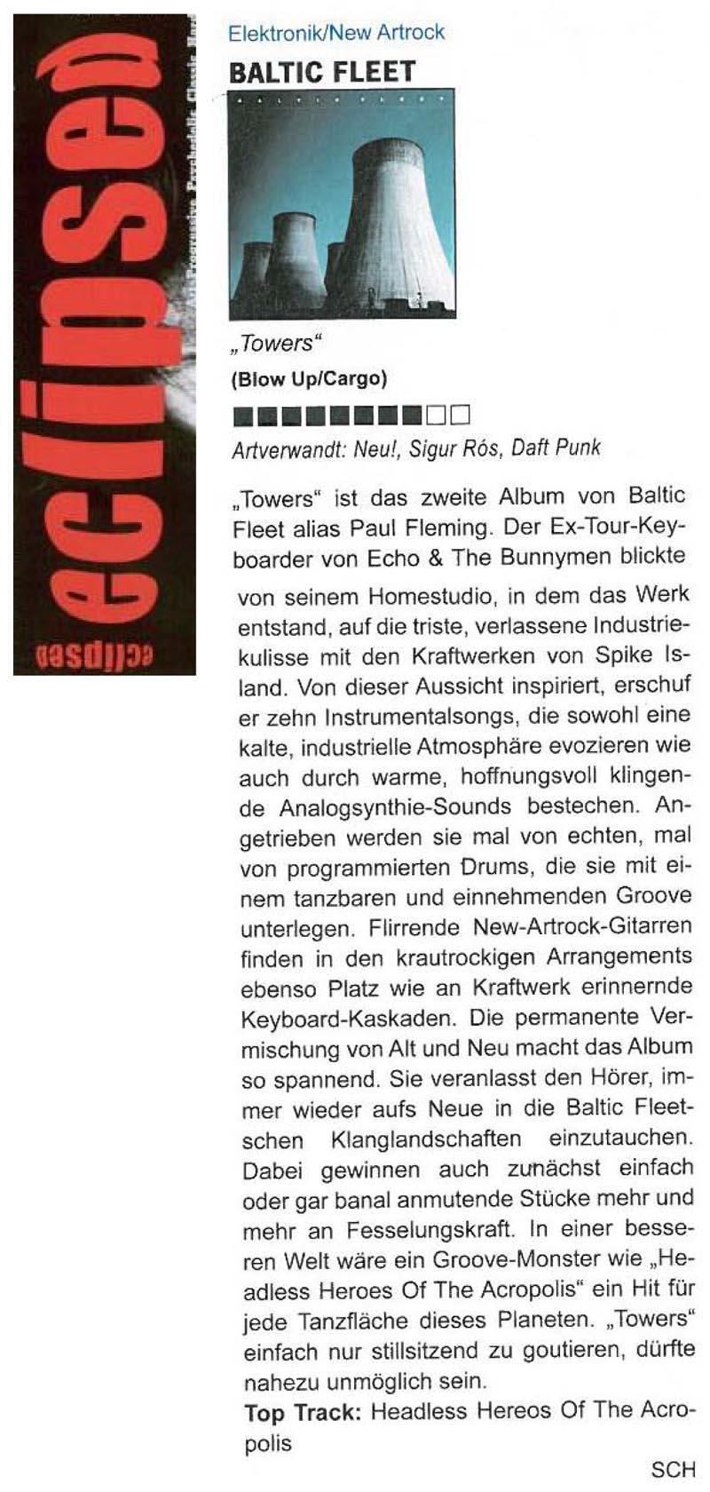 Eclipsed Magazine Germany Baltic Fleet Towers