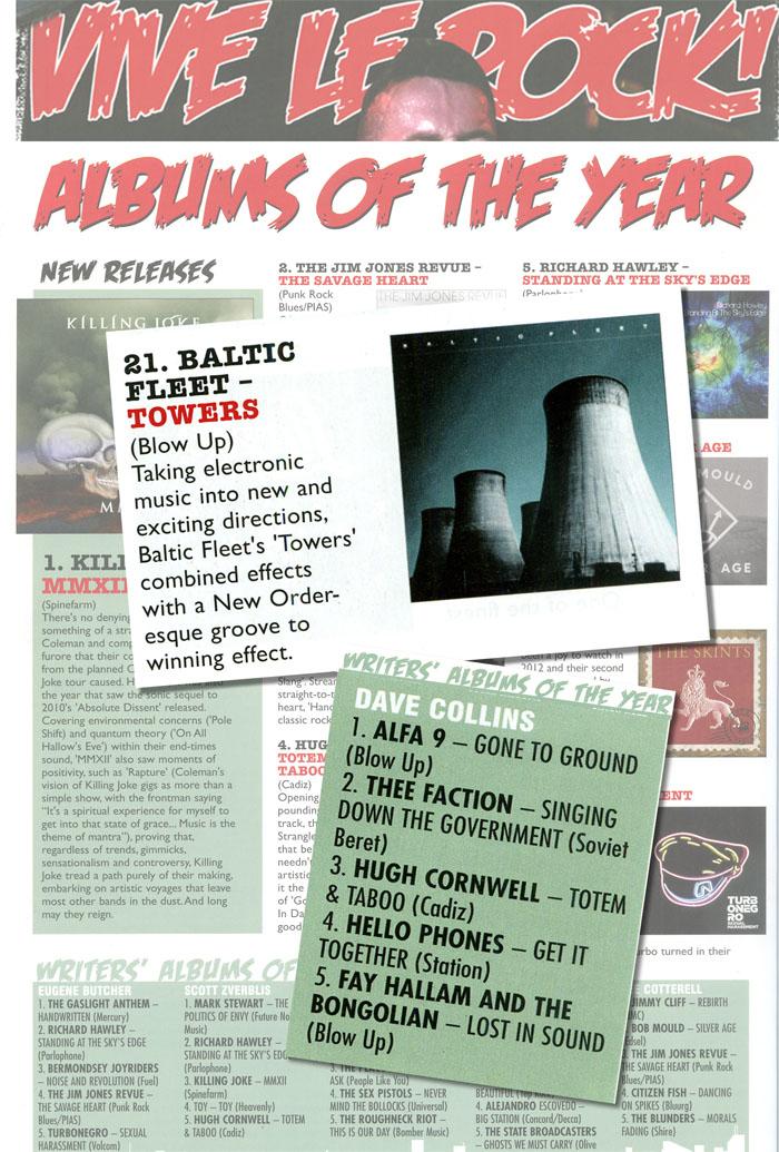 Vive Le Rock Albums Of The Year Alfa 9 Baltic Fleet Fay Hallam Bongolian