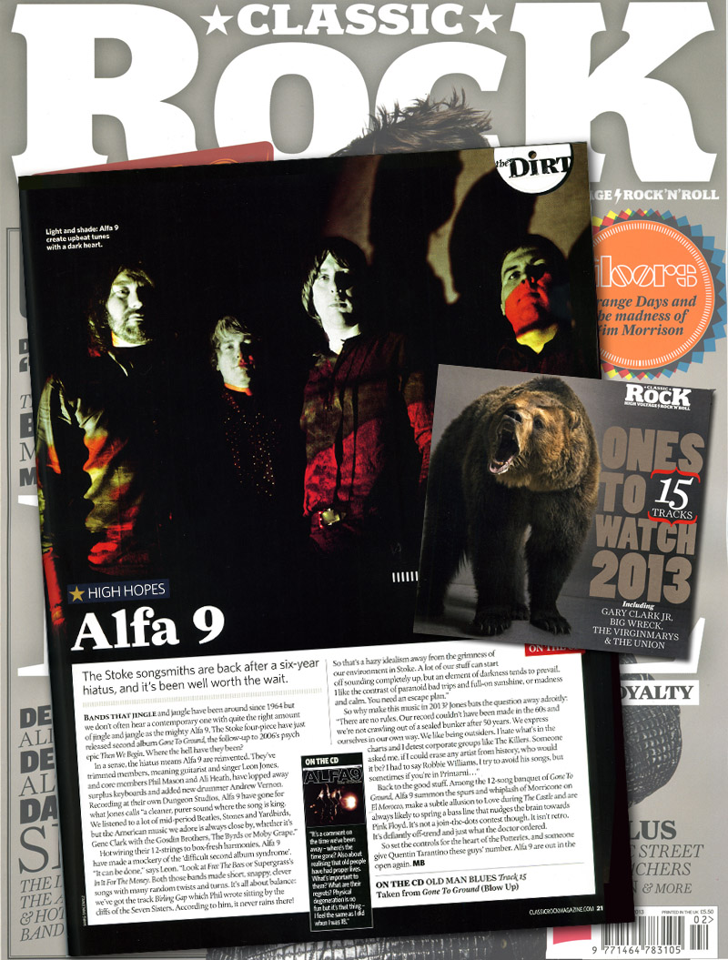 Alfa 9 Classic Rock High Hopes Ones To Watch 2013