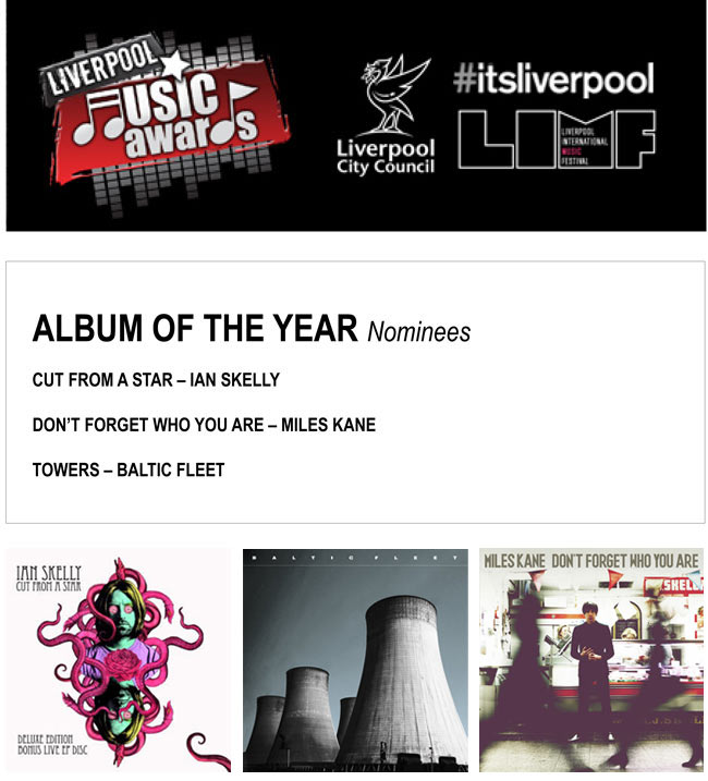 Baltic Fleet 'Towers' Album Of The Year Nomination Liverpool Music Awards