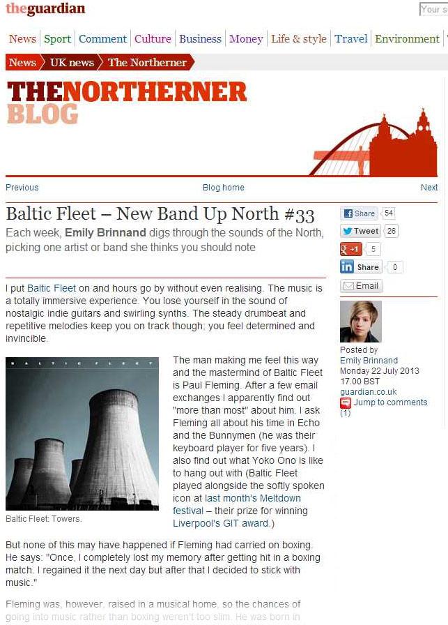 Guardian Northerner Blog Baltic Fleet New Band Up North 33