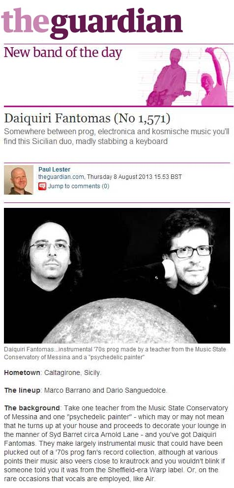 Guardian New Band Of The Day Daiquiri Fantomas MHz Invasion