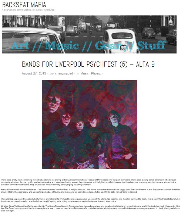 Bands For Liverpool Psychfest - Alfa 9