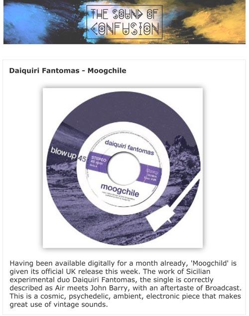 Sound Of Confusion Daiquiri Fantomas Moogchile Single Review