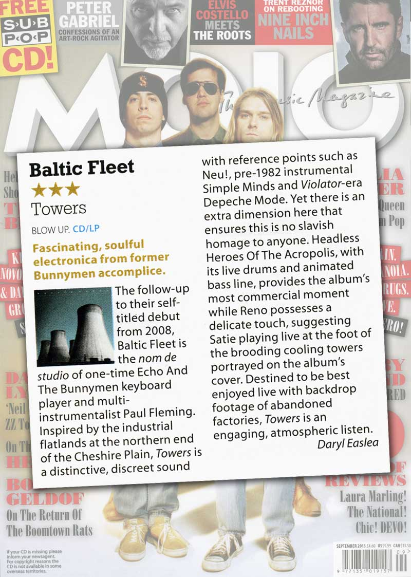 Baltic Fleet 'Towers' MOJO Album Reviews