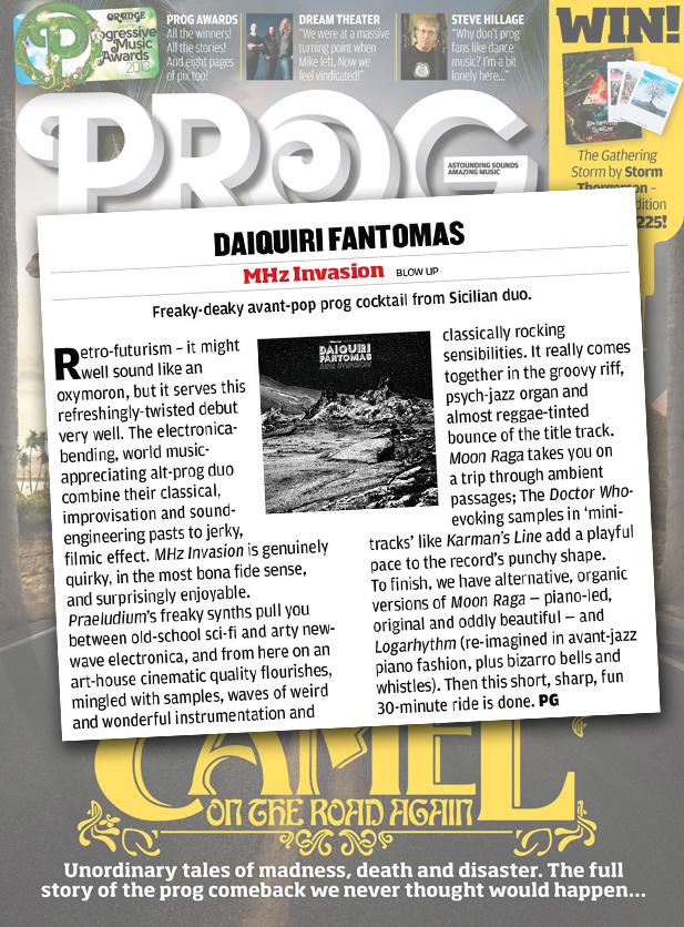 Daiquiri Fantomas 'MHz Invasion' PROG Album Reviews