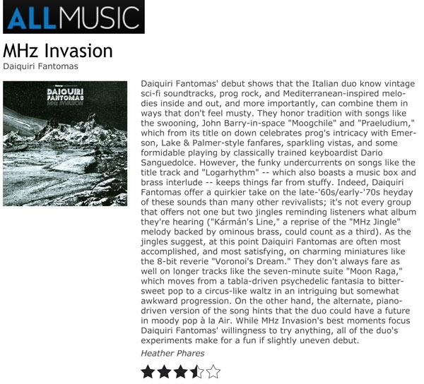 AllMusic Album Reviews Daiquiri Fantomas MHz Invasion