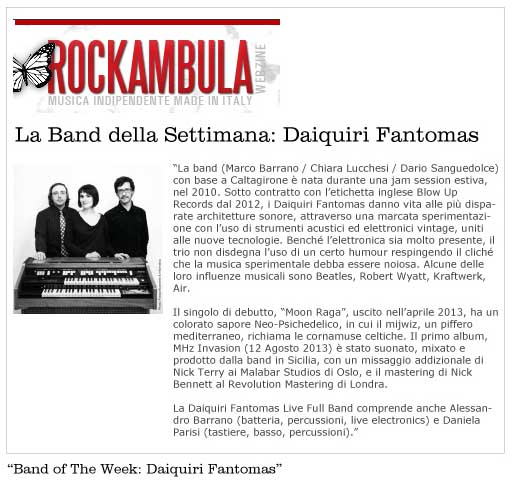 Rockambula Band of the Week Daiquiri Fantomas
