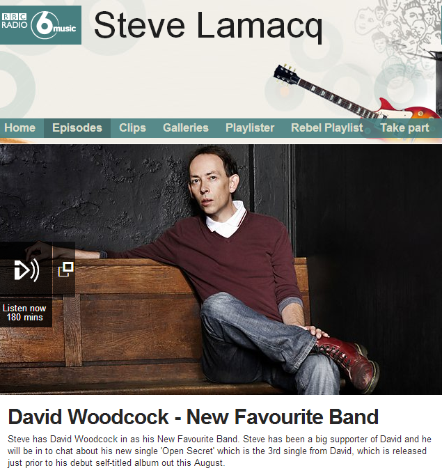 BBC Radio 6 Music Steve Lamacq: New Favourite Band - David Woodcock