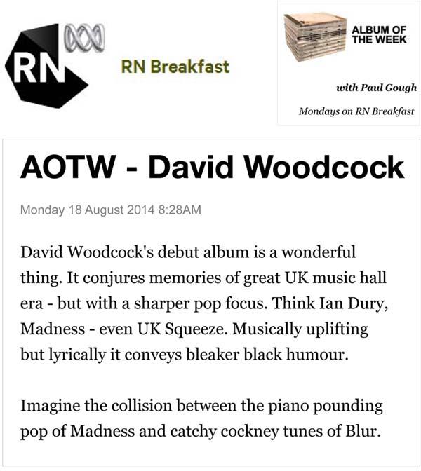 ABC Australia Radio RN News: Album of the Week - David Woodcock