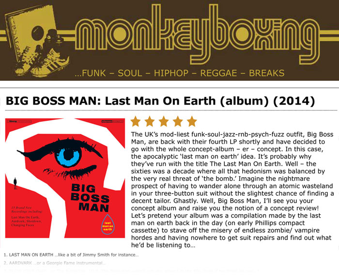 Monkeyboxing Album Reviews Big Boss Man Last Man On Earth