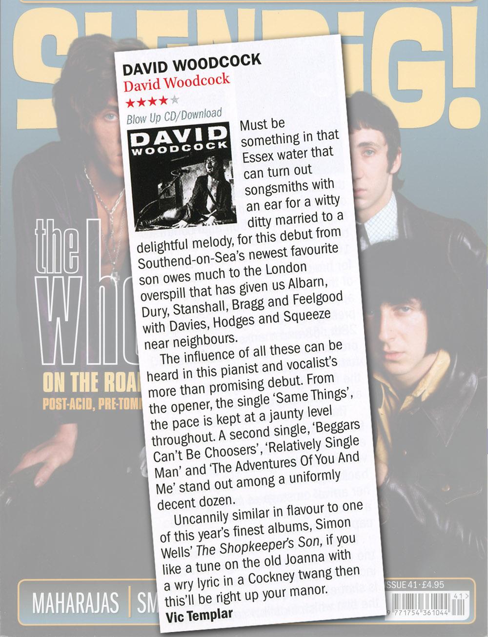 Shindig! David Woodcock Album Review