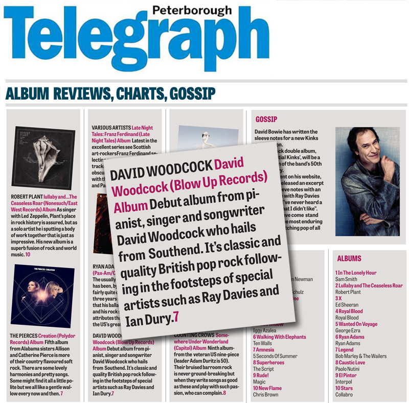 Peterborough Telegraph Album Reviews David Woodcock Debut
