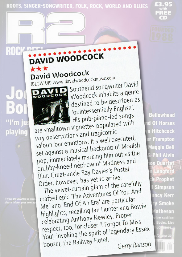 R2 Rock & Reel Album Reviews David Woodcock Debut