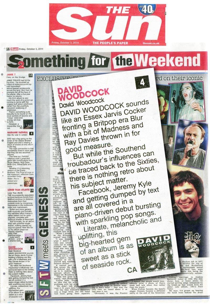 The Sun SFTW Album Reviews David Woodcock Debut