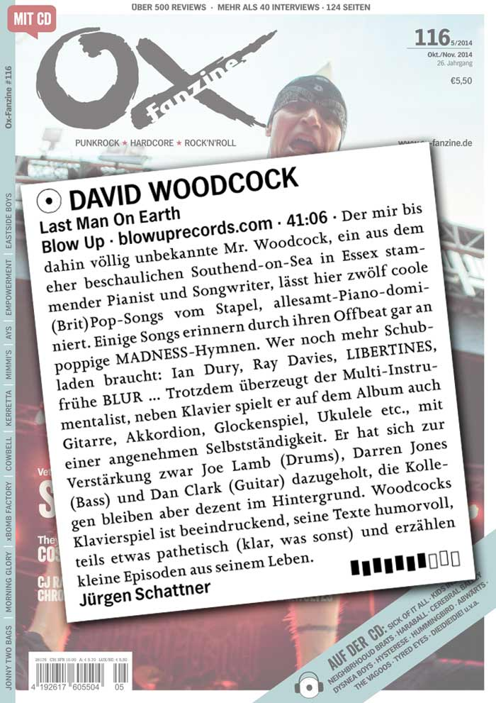 Ox David Woodcock Album Review Gemany