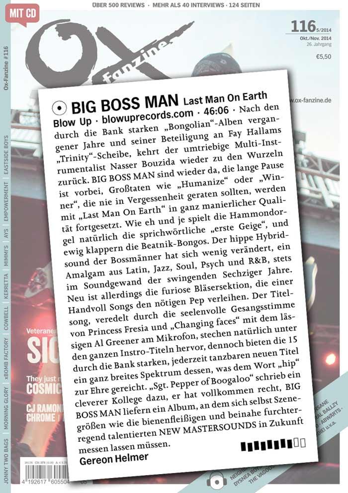 Ox Big Boss Man Last Man On Earth Album Review Gemany