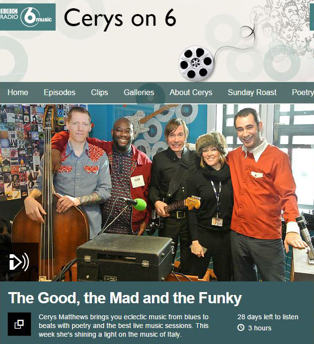 BBC Radio 6 Music Cerys Matthews: Big Boss Man Live In Session