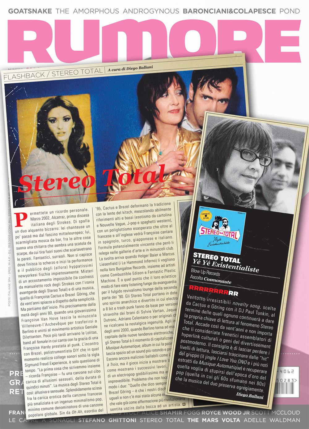 Rumore Flashback / Album Reviews Stereo Total Yéyé Existentialiste