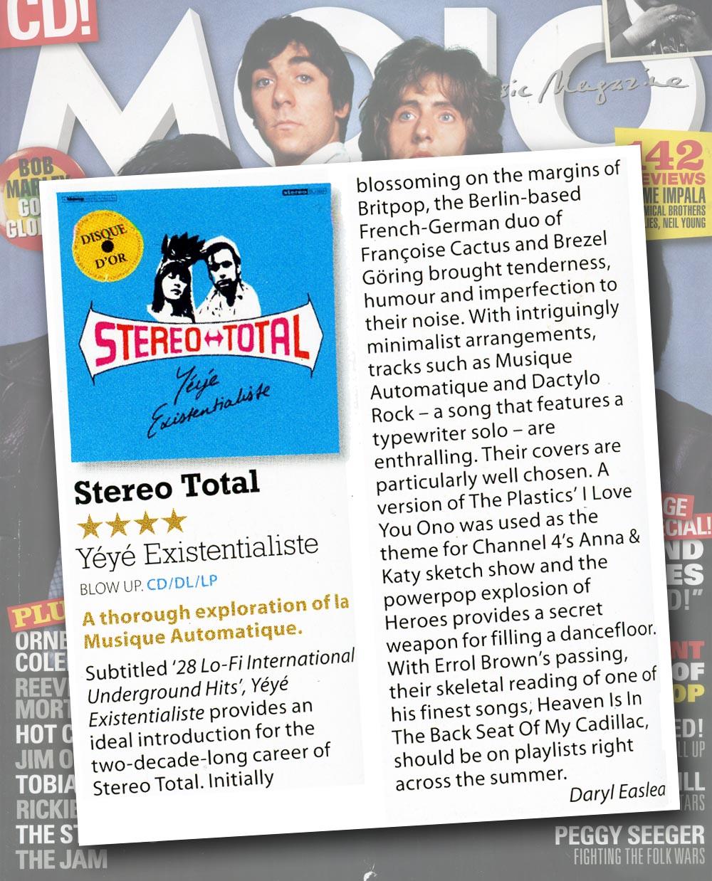 Mojo Reviews Stereo Total Yéyé Existentialiste