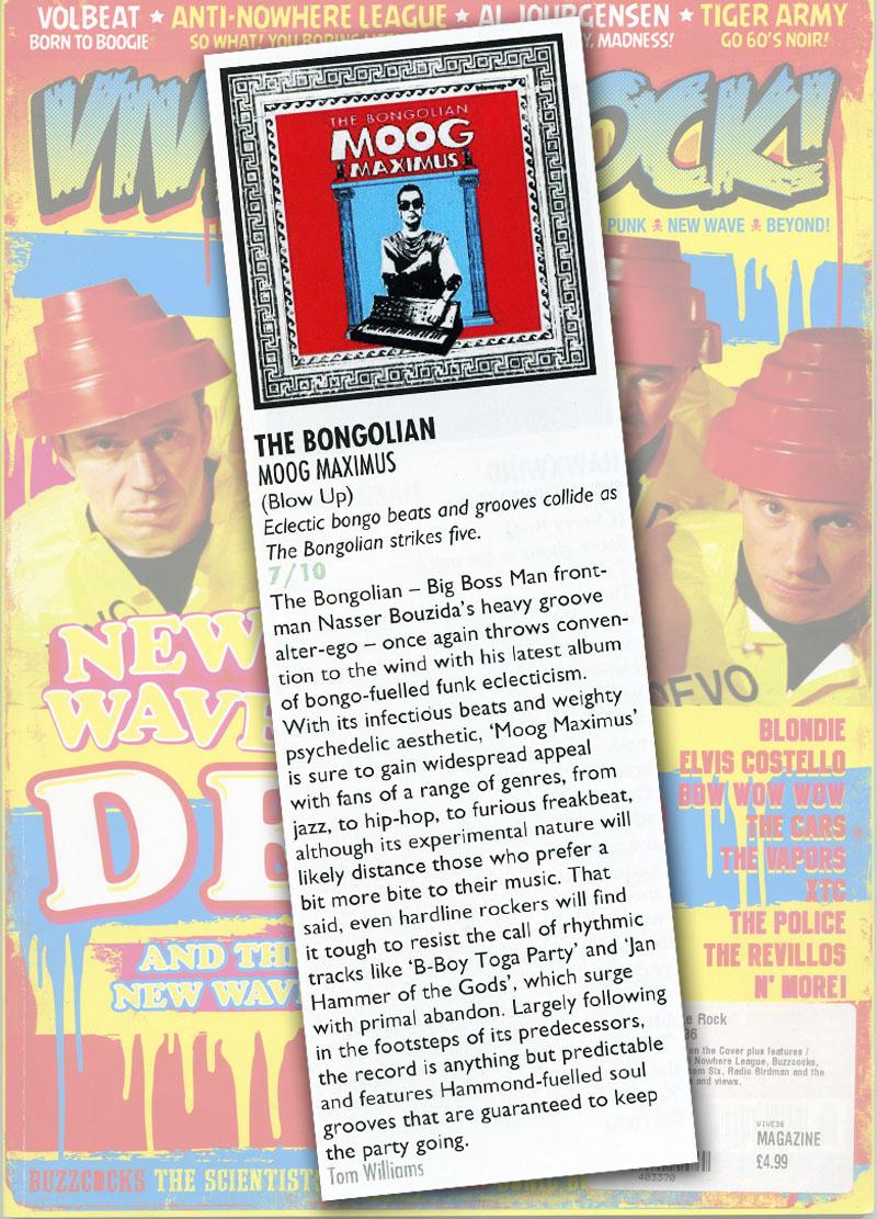 Vive Le Rock Album Reviews: The Bongolian 'Moog Maximus'