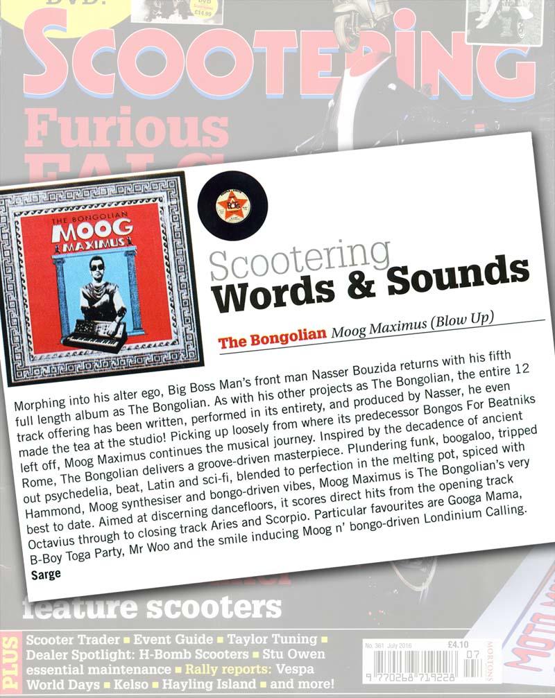 Scootering Album Reviews: The Bongolian 'Moog Maximus'