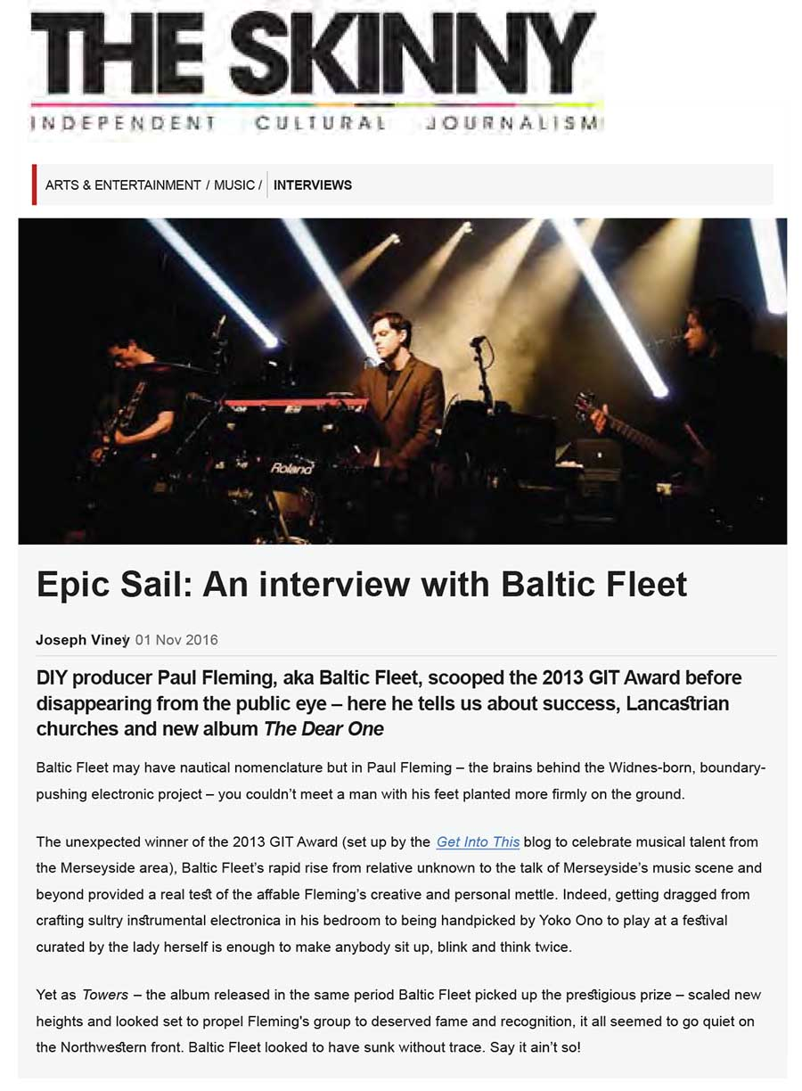 The Skinny An interview with Baltic Fleet