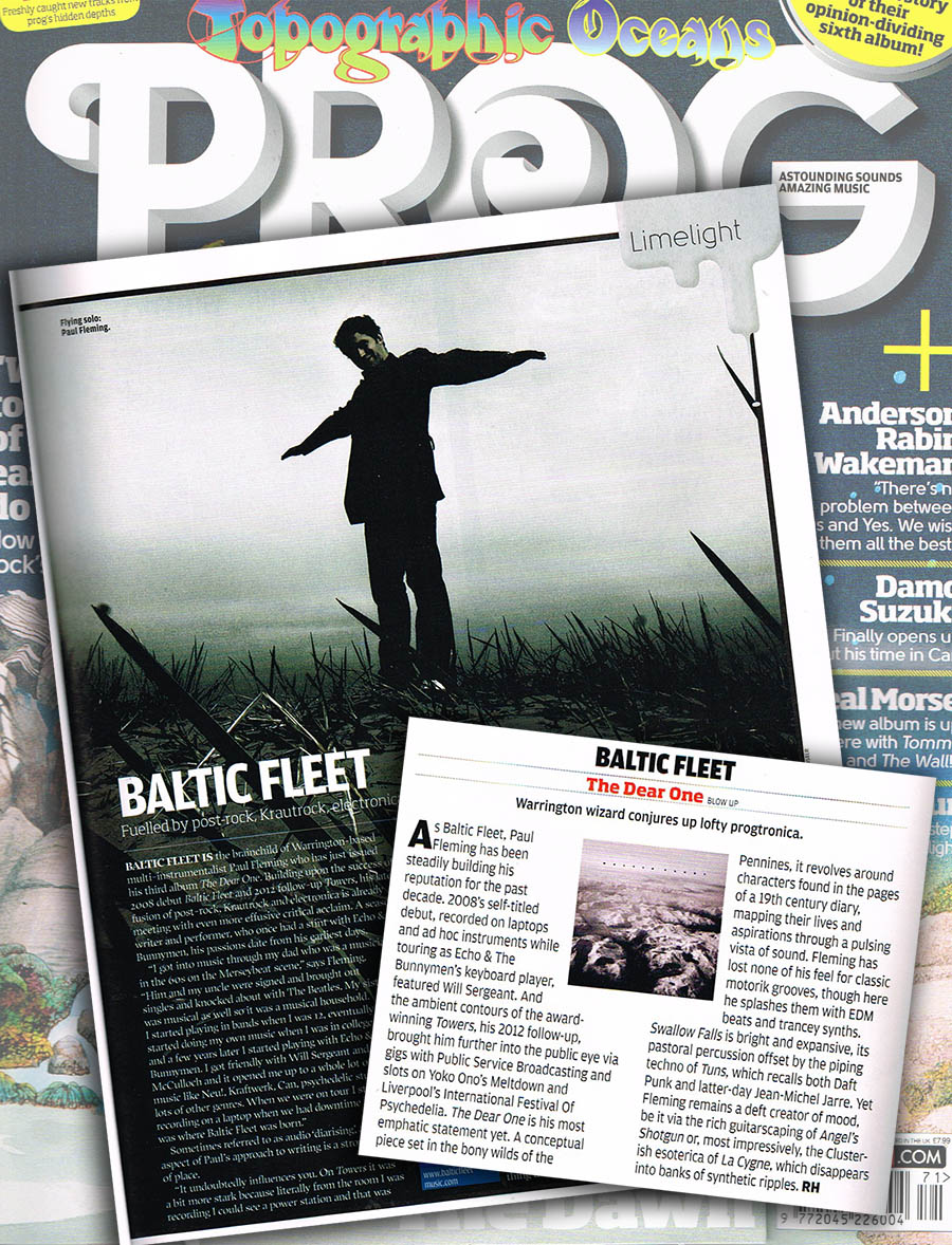 Baltic Fleet 'The Dear One' PROG Album Reviews & Feature